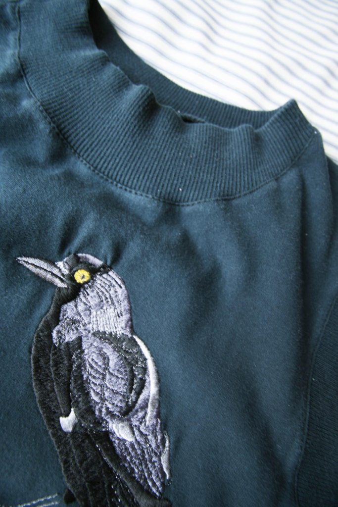 London Denim Jackdaw Emboridery