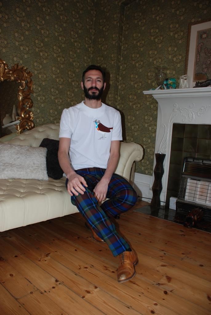 London Denim T with Tartan Trousers