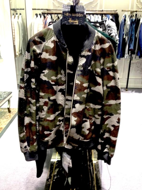 McQueen Snakeskln Camo Jacket