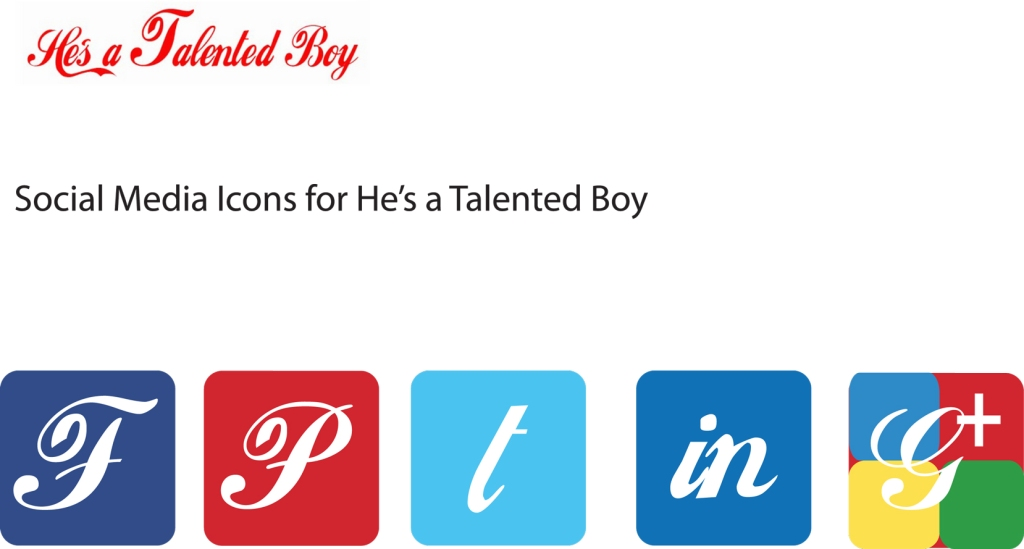 New Social Media Icons for He's A Talented Boy