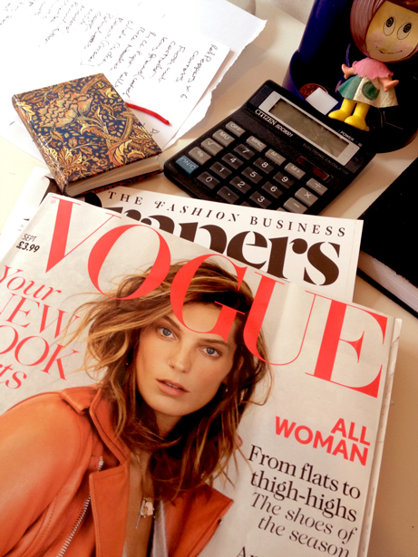 Vogue September 2013 Nose Ring Cover