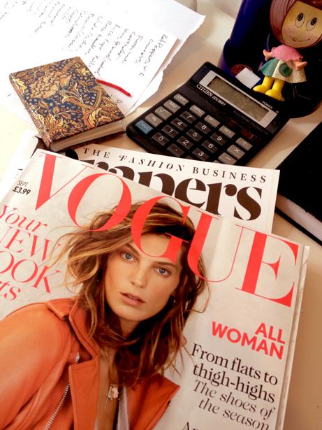 Vogue September 2013 Nose Ring Cover